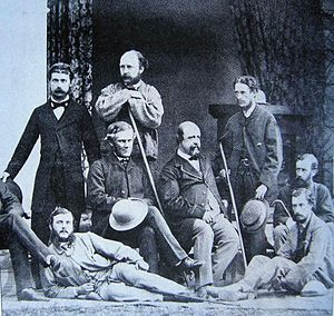 Alexander Cunningham - Cunningham (fourth from the right) at an unknown date.
