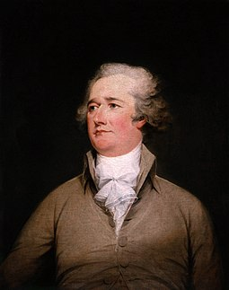 Alexander Hamilton wrote the Federalist Papers with Jay and Madison. Alexander Hamilton.jpg
