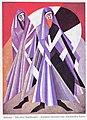 Alexandra Exter - Salomé, Die drei Sadduzäer. Kostüm-Skizzen.jpg