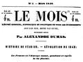 Alexandre Dumas Le mois 1848, page de titre.png