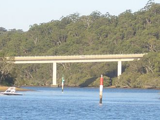 Alfords Point Bridge - Alfords Point Bridge in 2007, prior to completion of the duplication