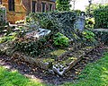 All Hallows Church Tottenham London England - churchyard chest tomb overgrown 10.jpg