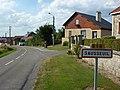Alland'Huy-et-Sausseuil (Ardennes) city limit sign Sausseuil.JPG