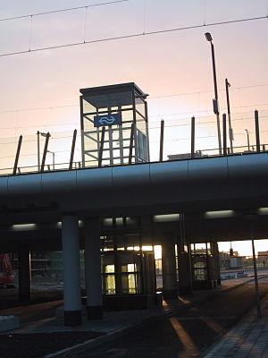 Almere Oostvaarders railway station - Image: Almere oostvaarders