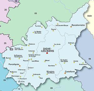Alpes-de-Haute-Provence - Map of the Department