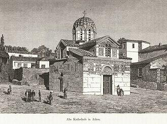 Little Metropolis - Image: Alte Kathedrale in Athen Schweiger Lerchenfeld Amand (freiherr Von) 1887