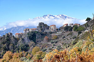 Altiani - The village and the Massif of Monte Cardo