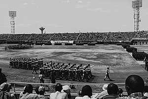 Rwanda Nziza - Military parade by the Rwandan Defence Forces at Amahoro Stadium, performing Rwandan Nziza