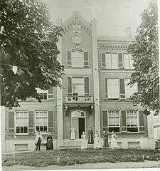 Foto van gebouw begin 1900