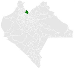 Vị trí của đô thị trong bang Chiapas