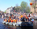 Amsterdam - Koninginnedag 2012 - Prinsengracht boat.JPG