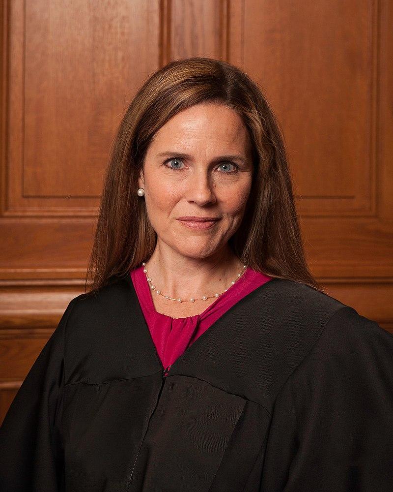 Barrett wearing a judicial robe