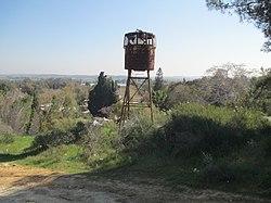 מגדל שמירה ישן בקיבוץ ארז