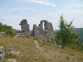 The ruins of the old church of Saint-André, inVal de Fier