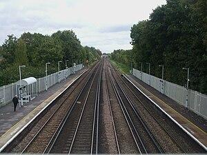 Anerley railway station - Image: Anerley station high northbound