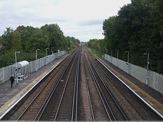 Anerley railway station - Image: Anerley station high northbound