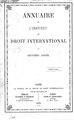 Annuaire de l'Institut de droit Deuxieme annee.pdf