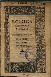 Egloga pastorale di Flavia