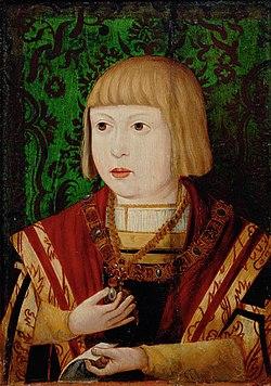 Ferdinand I, Holy Roman Emperor, aged ten or twelve