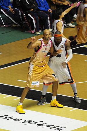 Anthony Coleman (basketball) - Coleman at Akita Prefectural Gymnasium
