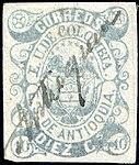 Antioquia 1869 10c Sc8 used grey.jpg