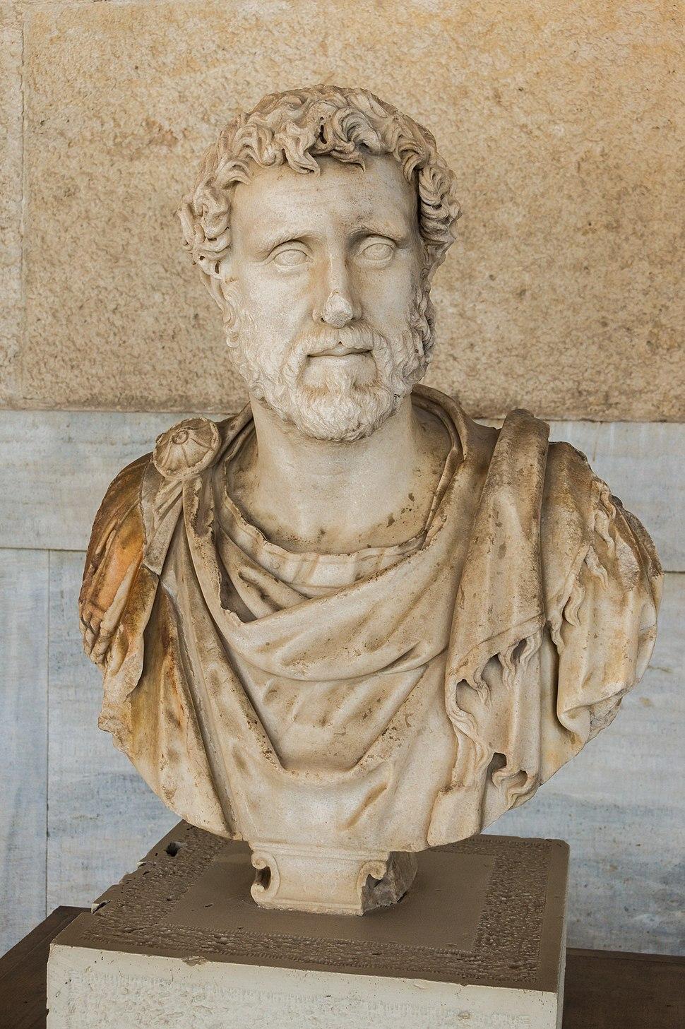 Antoninus Pius bust S2436 ancient agora museum Athens
