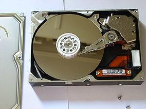 Hard disk drive platter - Hard disk with platter