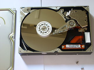 Hard disk drive platter circular disk on which magnetic data is stored in a hard disk drive