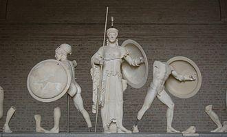 Glyptothek - Detail of the Aegina temple figures.