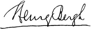 Henry Bergh - Image: Appletons' Bergh Henry signature
