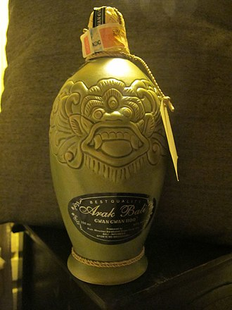 Alcohol in Indonesia - Fancy bottled Arak Bali as souvenir.