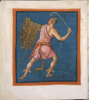 Orion (constellation) - Orion in the 9th century Leiden Aratea
