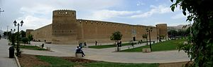 "Karim Khan Zand - Picture of the Arg of Karim Khan, the royal residence of the Zand dynasty, where Agha Mohammad Khan spent most of his time during his ""captivity""."