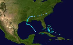 1959 Atlantic hurricane season - Image: Arlene 1959 track