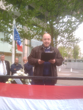 Armando Monsanto bij de Pim Fortuyn-herdenking op 6 mei 2010.