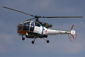 Cashel South African Air Force Alouette crash - An Aerospatiale SA-316B Alouette III similar to the accident aircraft