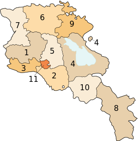 Armenia map numbered.svg