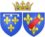 Description de l'image Arms of Louise Marie Adélaïde de Bourbon as Duchess of Orléans.png.