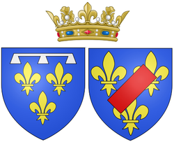Arms of Louise Marie Adélaïde de Bourbon as Duchess of Orléans.png