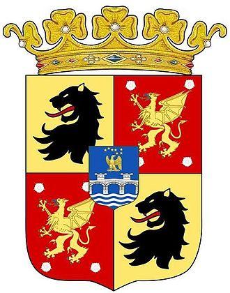 Prince Bernadotte - Image: Arms of Prince Carl Bernadotte with coronet