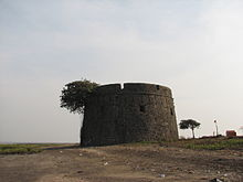 Portuguese Martello Tower at Arnala, India