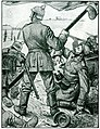 Arthur Kampf - Der Tod des Prinzen Friedrich Wilhelm zur Lippe beim Sturm auf Lüttich, 1914.jpg
