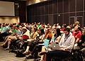 Asistentes a la inauguración de Wikimanía 2015..JPG