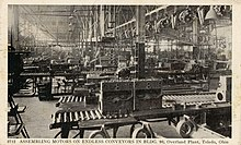 Motor Assembly in Building 90, Willys Overland Plant, Toledo, Ohio, 1920