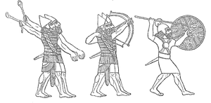 Assyrian soldiers.