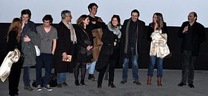 Under the Rainbow (2013 film) - The cast at a preview.