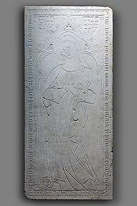 Augustin - Dalle funéraire de Marquesia de Linars (ou Lias) Joconde05620001777.jpg