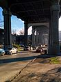 Aurora Bridge in Fremont, Seattle - pillars from top of hill near end of bridge.jpg