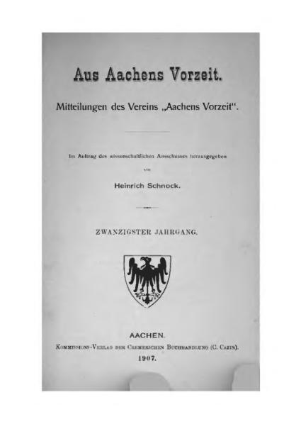 File:Aus Aachens Vorzeit 20 Jg 1907.djvu