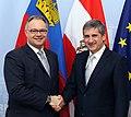 Aussenminister Spindelegger trifft Regierungschef von Liechtenstein, Klaus Tschütscher (8383888854).jpg